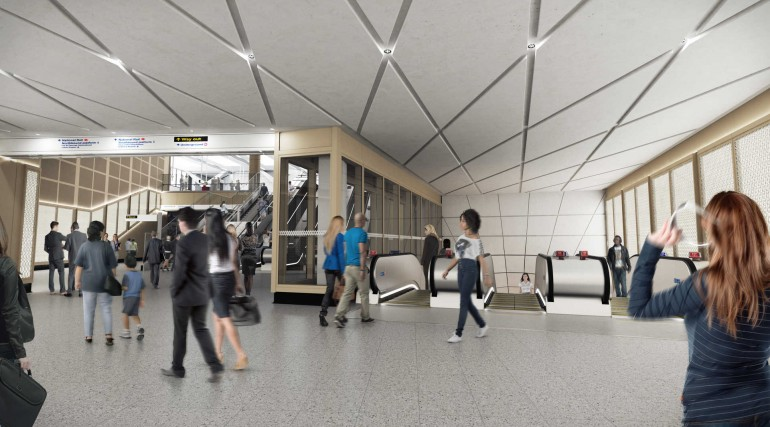 04 Farringdon station - proposed station concourse at Cowcross Street entrance_236029
