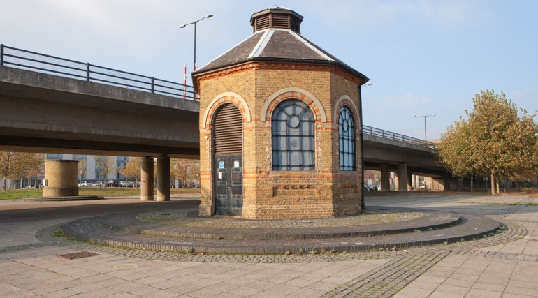 Pump House above Connaught Tunnel, February 2012