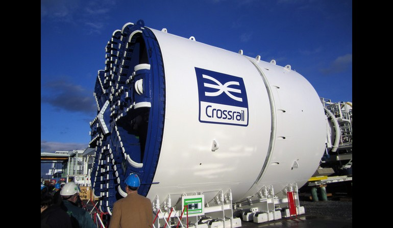 Crossrail's first flly assembled TBM - Dec 2011