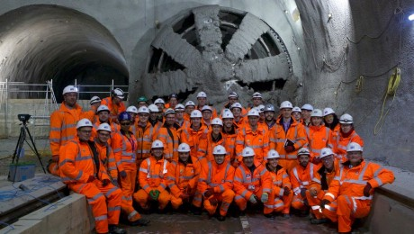 Breakthrough as tunnelling giant Elizabeth arrives at Stepney Green Cavern