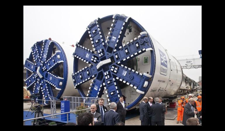 Crossrail's first pair of tunnel boring machines, Westbourne Park - 13 March 2012
