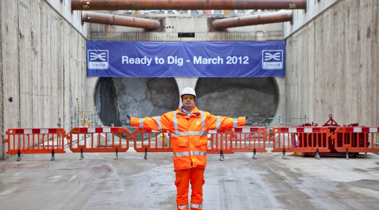 Giant tunnel boring machines ready to start Crossrail dig, March 2012