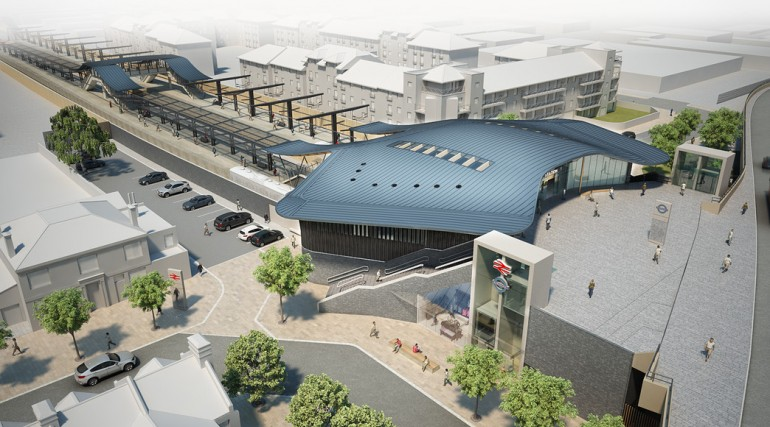 Abbey Wood Station Design - Architects Impression_86699
