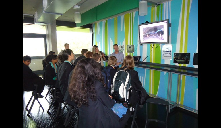 Crossrail staff inspire Westminster Academy students, April 2012