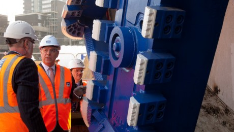 His Royal Highness the Duke of York visits Westbourne Park site to see Crossrail tunnelling machines