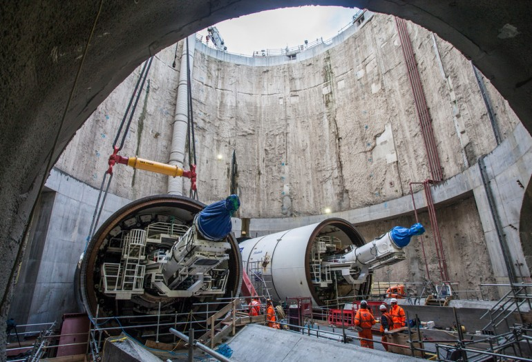 Crossrail's 4th tunnelling machine Victoria starts her journey