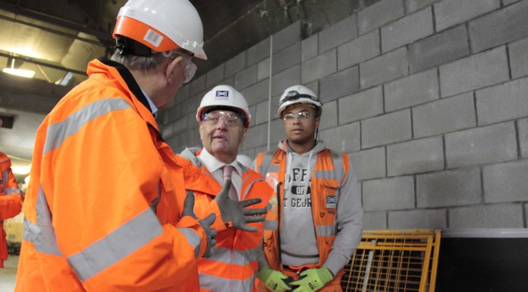 4_John Hayes MP visits Crossrail with Sir Terry Morgan and Kayne Wilson Crossrail 600 apprentice_251