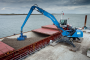 First shipment of Crossrail excavated material arrives at Wallasea Island, August 2012