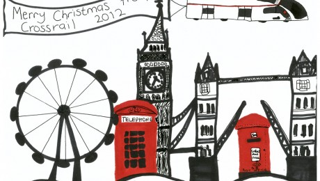 Young Crossrail Christmas card competition winning designs unveiled