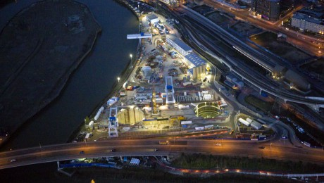New aerial images give bird's-eye view of Crossrail as project moves into peak of construction