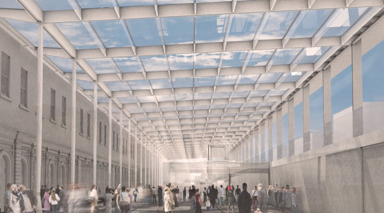 Artist's impression of Paddington station canopy artwork