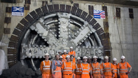 Major breakthrough for Crossrail as tunnelling machine enters Canary Wharf station