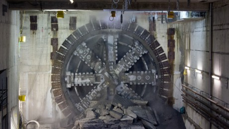Tunnelling giant Victoria breaks through into Canary Wharf Crossrail station