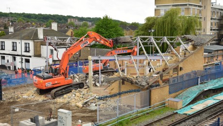 Former Abbey Wood station demolished