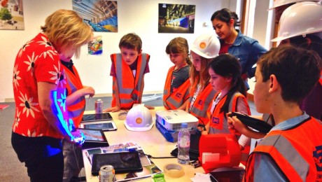 Children create Crossrail-inspired art