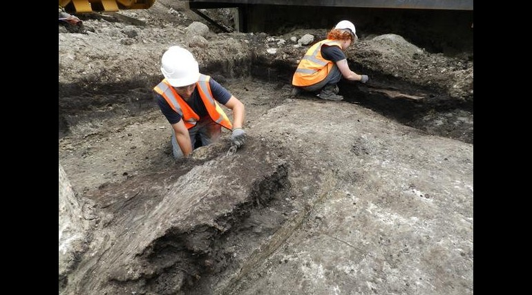 Bronze Age finds uncovered during excavation of Crossrail's Plumstead Portal_55600