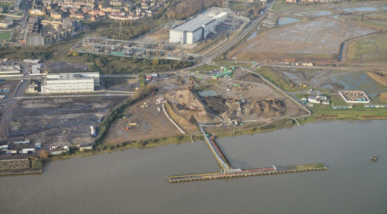 Aerial view of Docklands Transfer Station _172846