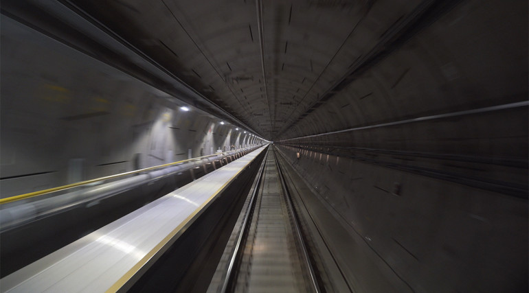 Central section tunnels and routeway during Dynamic Testing_336213