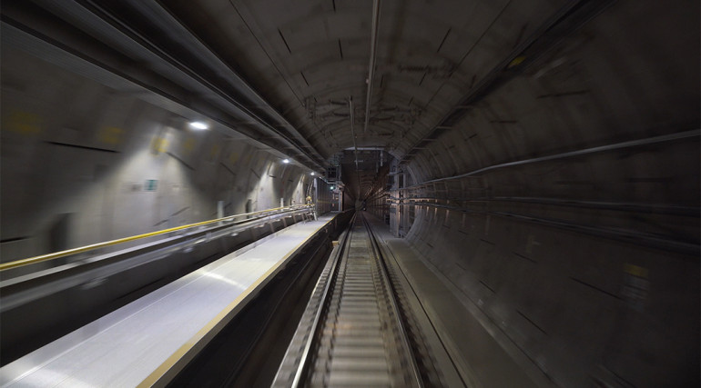Central section tunnels and routeway during Dynamic Testing_336214