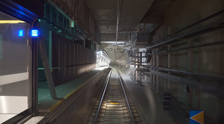 Central section tunnels and routeway during Dynamic Testing_336216
