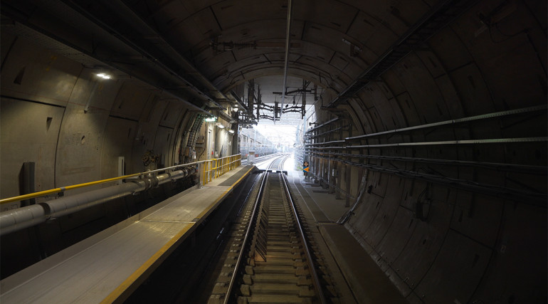 Central section tunnels and routeway during Dynamic Testing_336217