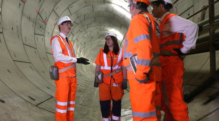 Chancellor unveils Crossrail's new tunnels under the Thames_145596