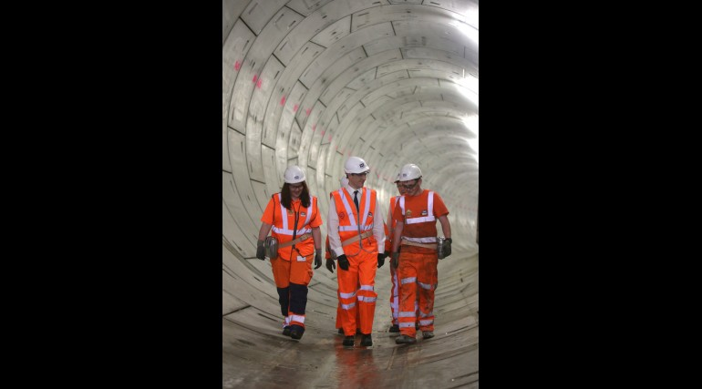 Chancellor unveils Crossrail's new tunnels under the Thames_145598