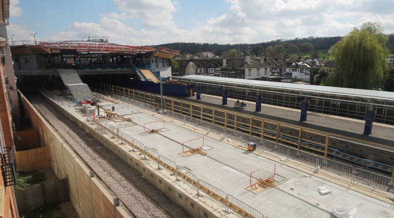 Completed platform structure of Elizabeth line platforms at Abbey Wood_269376