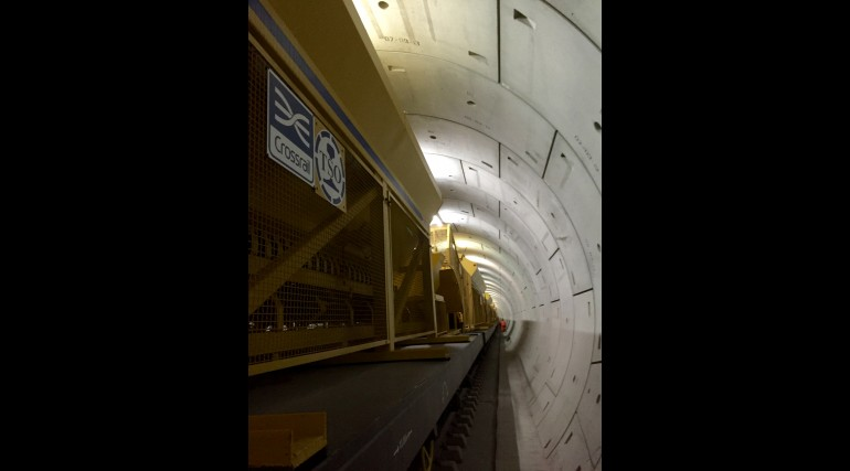 Concreting train in Thames Tunnel_212902
