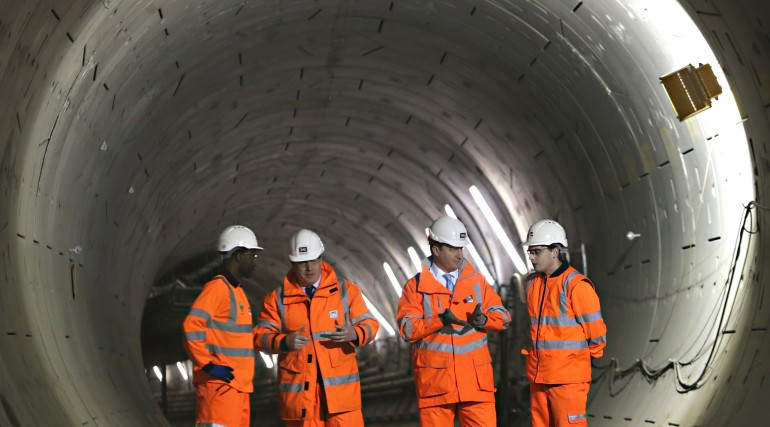 Prime Minister and Mayor of London visit Crossrail as project reaches halfway point