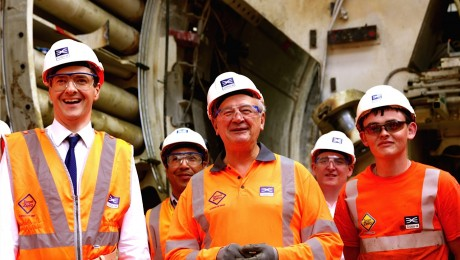 Chancellor unveils Crossrail's new tunnels under the Thames