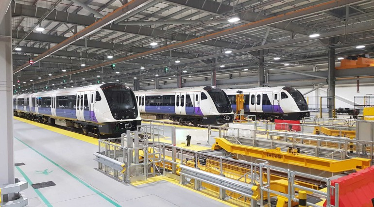 Elizabeth line trains at Old Oak Common depot_301628