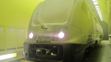 Elizabeth line train undergoes all-weather testing