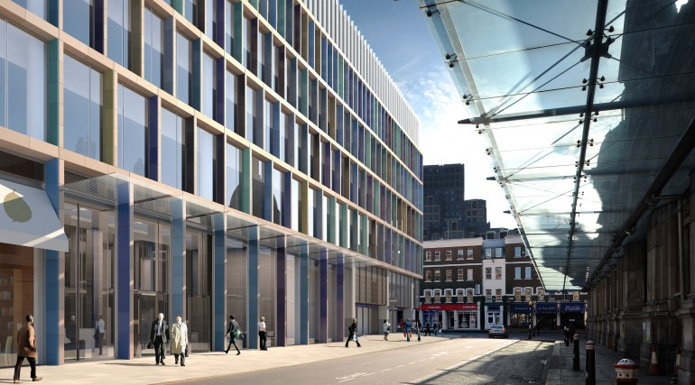 Farringdon station - architects impression of proposed oversite development at Lindsey Street_69224