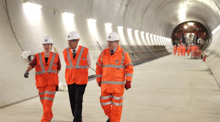 HRH The Duke of Edinburgh visits Farringdon Crossrail station_213340