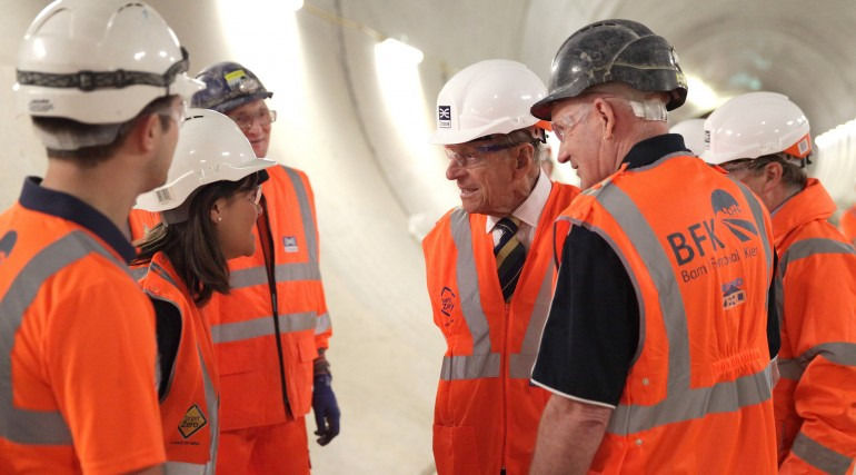 HRH The Duke of Edinburgh visits Farringdon Crossrail station_213343