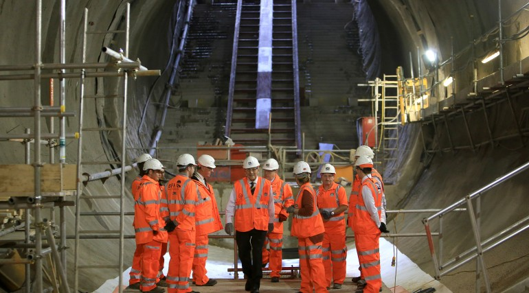 HRH The Duke of Edinburgh visits Farringdon Crossrail station_213349