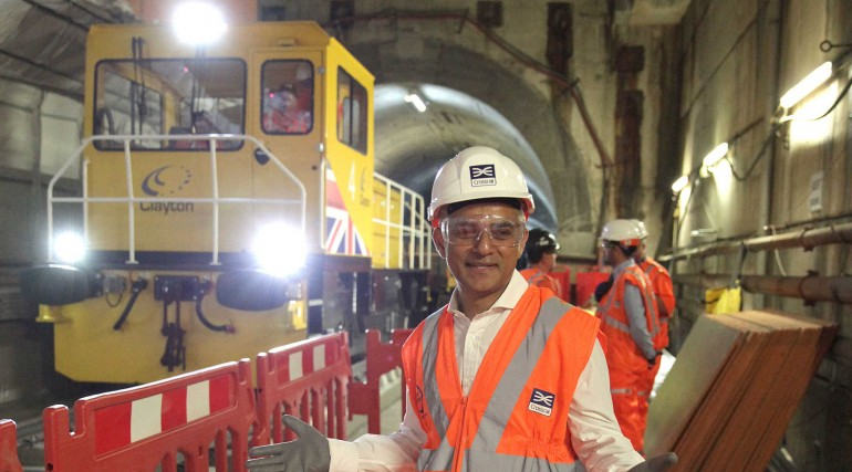 Mayor makes first station to station journey from Custom House to Canary Wharf and views completed p
