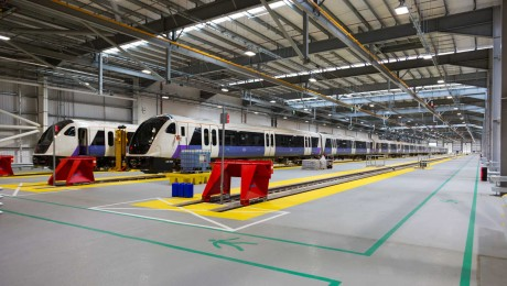 New environmentally-friendly Elizabeth line maintenance depot enters service in west London