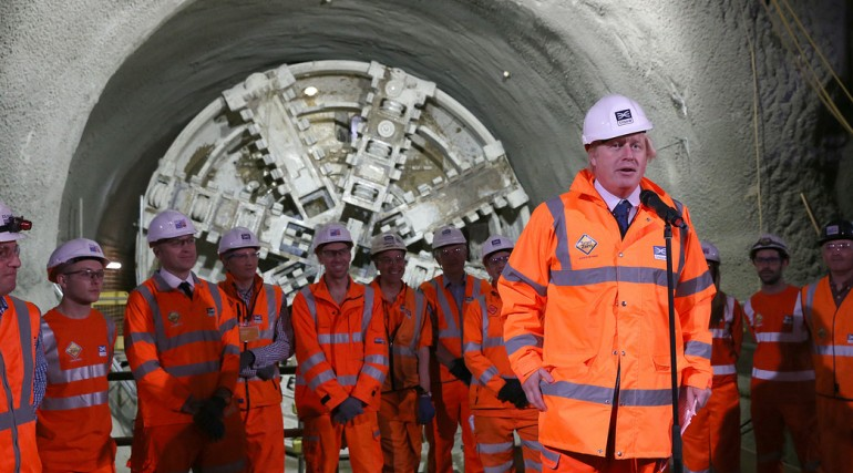 Prime Minister and Mayor of London celebrate completion of Crossrail_s tunnelling marathon_200347