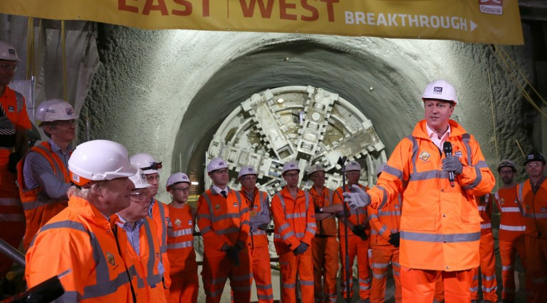 Prime Minister and Mayor of London celebrate completion of Crossrail_s tunnelling marathon_200351