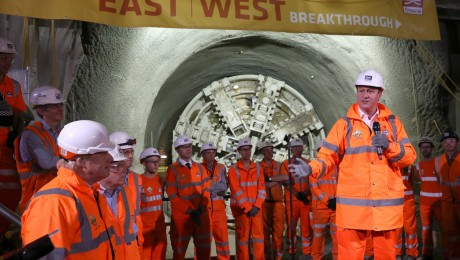 Prime Minister and Mayor of London celebrate completion of Crossrail's tunnelling marathon