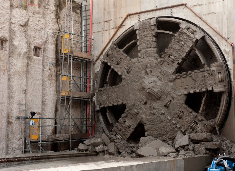 Crossrail tunnelling machine Jessica completes her journey