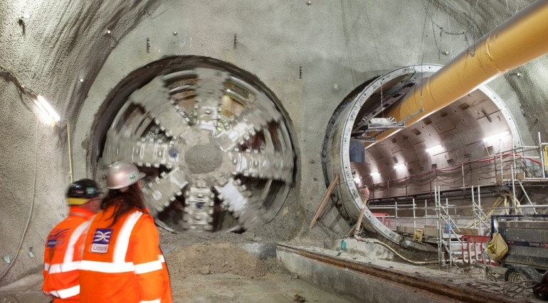 TBM Jessica breaks through into Stepney Green cavern, February 2014_123610