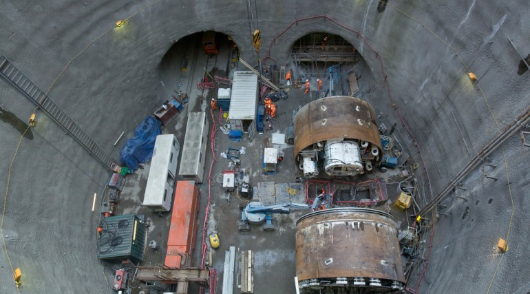 TBM Jessica re-assembled at Limmo to start second tunnel drive_133761