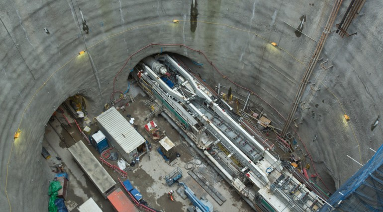 TBM Jessica re-assembled at Limmo to start second tunnel drive_142863