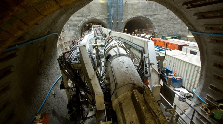 TBM Jessica re-assembled at Limmo to start second tunnel drive_142871