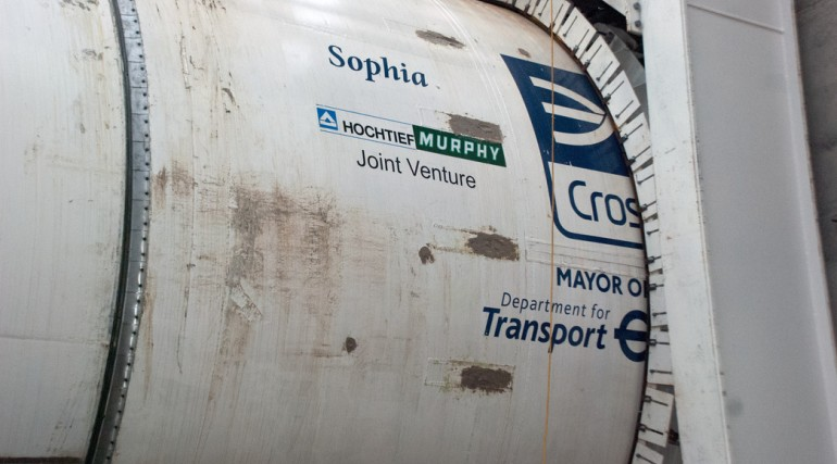 TBM Sophia breaks ground at Plumstead Portal, Jan 2013_58082