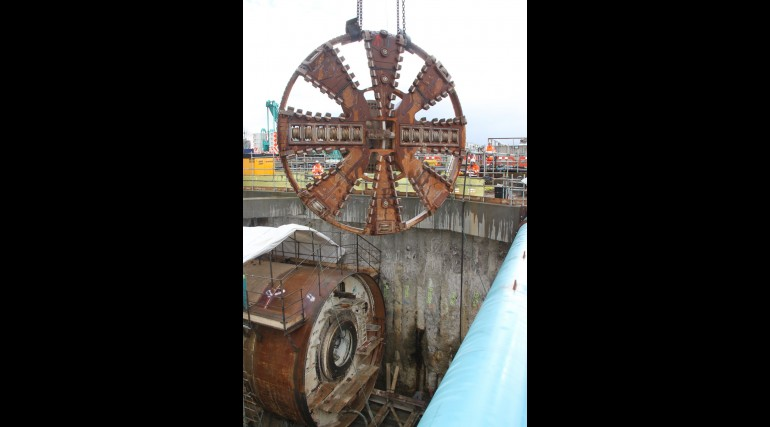 TBM Sophia's cutterhead is removed following completion of her tunnel drive_127874