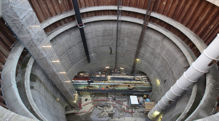 TBM Ellie begins second tunnel drive September 2014_156119